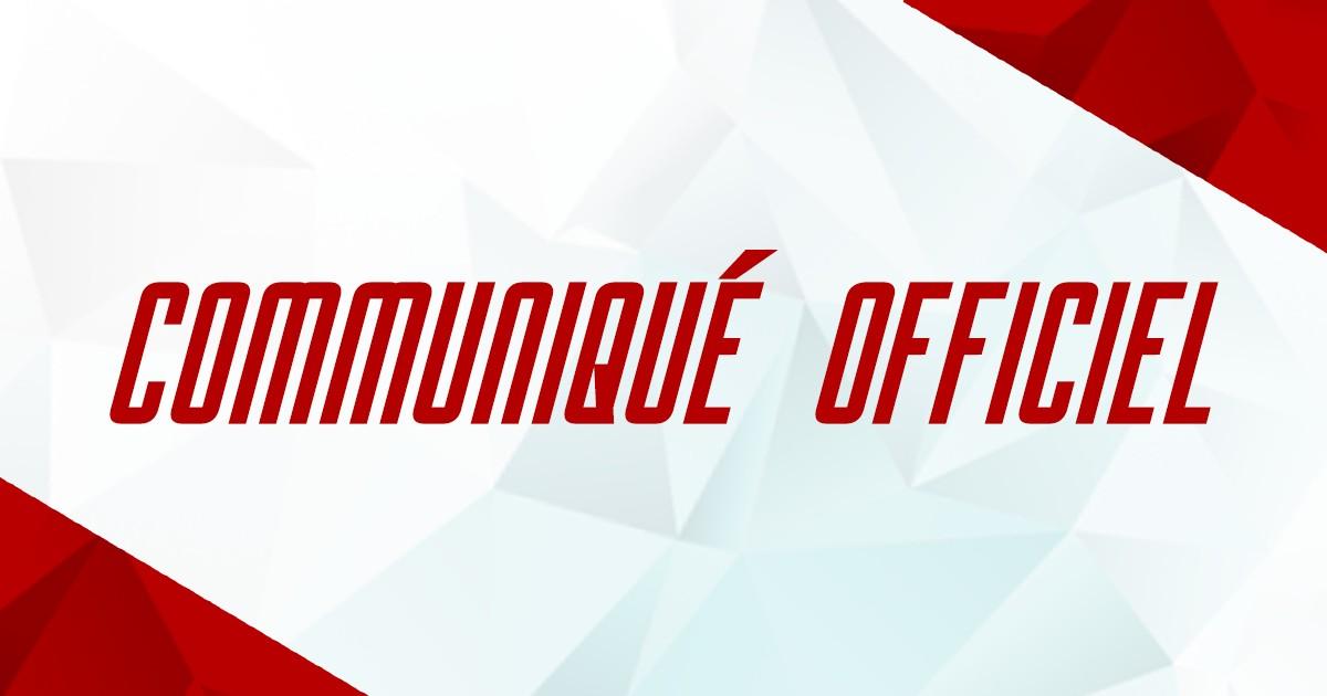 Communiqué match Mont-Blanc – Chambéry