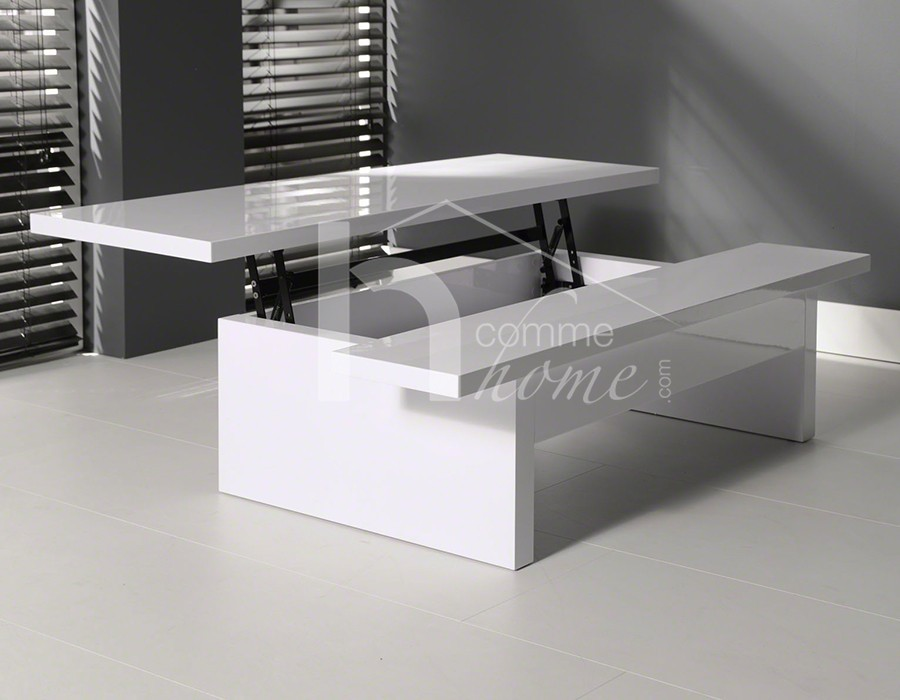 Table Basse Plateau Relevable Fly Fly Table En Verre