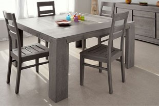 table carree chene massif couleur gris ziggy