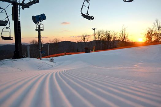 A beautiful day atop Appalachian Ski Mtn. awaits on Thursday morning. Photo by Drew Stanley