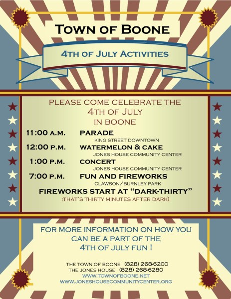 2014 Town of Boone July 4th Flyer (1)