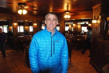 Restaurant owner Ethan Anderson is pictured in the Banner Elk location of the Pedalin' Pig.