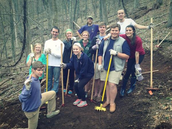 App State Greek students volunteered on a April 2013 morning. Photo courtesy Boone United Facebook
