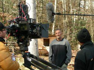 "Eugene Runkis, Bolejack's co-host, filming a scene from season one of ""Hillbilly Blood."""