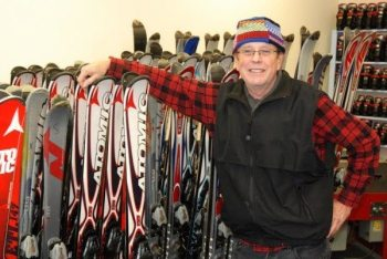 Shop owner Rick Crosby is pictured in the Snow Toys ski shop in Banner Elk.