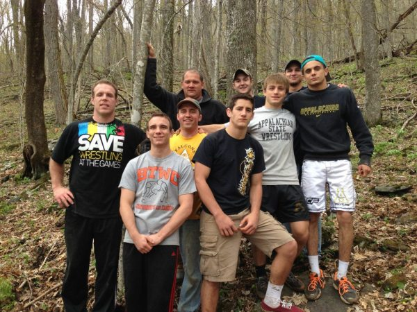 The ASU Wrestling Team was known as trail beasts for their work on the trail. Photo courtesy Boone United Trail Facebook page.