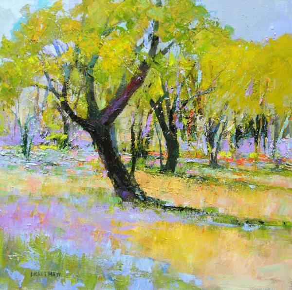 Andrew Braitman - Falling Blossoms Wore Butterflies - 40x40