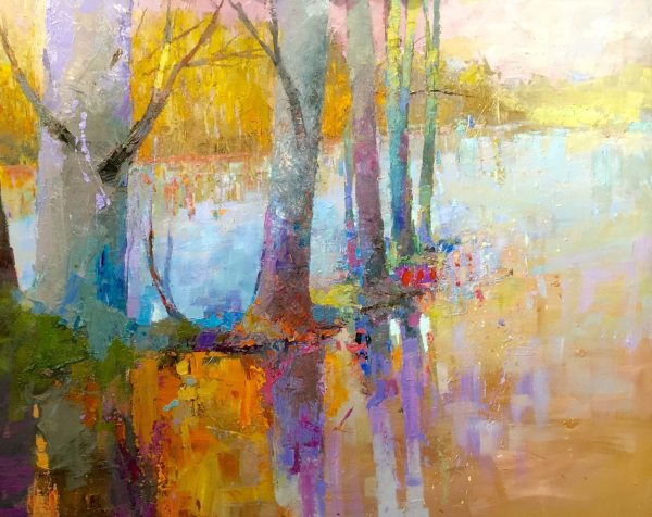 Andrew Braitman - Warmth at the Water's Edge - 48 x 60 - Oil on Canvas