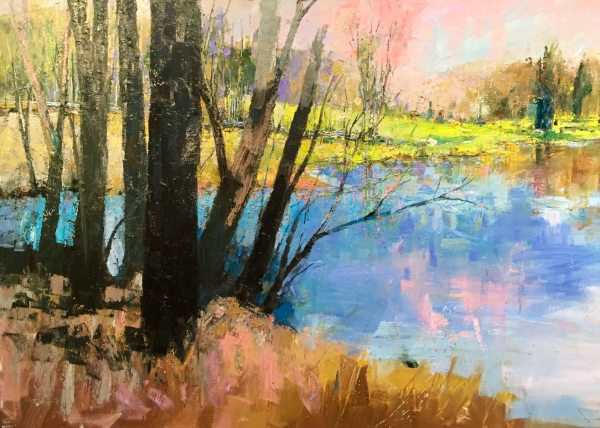 Andy Braitman -Out of Bounds - 54x72 approx