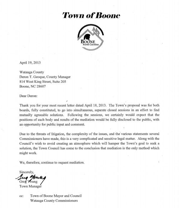 April 19 Letter