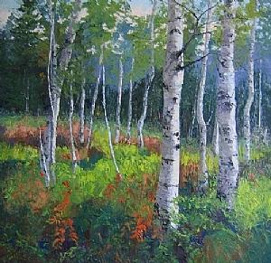 Aspen Grove by Addren Doss, featured artist at Art & Artifacts