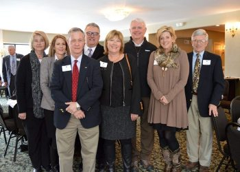 The Piedmont Federal team is pictured after the chamber's awards luncheon at Meadowbrook Inn and Suites on Feb. 9 in Blowing Rock.