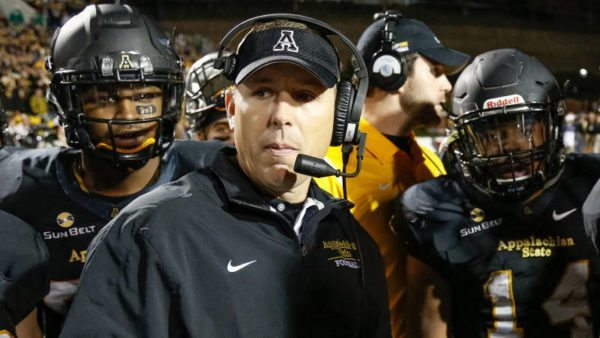 Athlon has tabbed Appalachian State's Scott Satterfield as the Sun Belt Conference's top coach heading into the 2016 season. Photo by Will Phillips / App State Football Video
