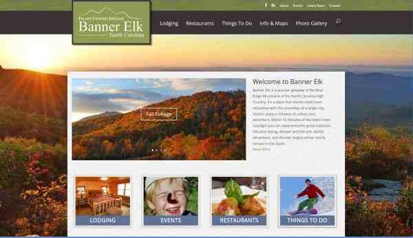 Banner Elk Tourism Website