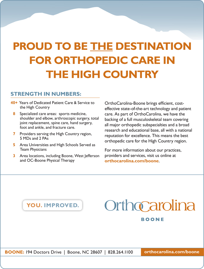 Ortho Landing | High Country Press