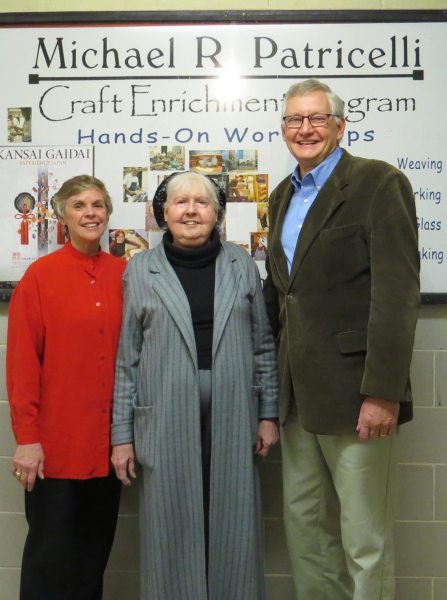 Copley, Patricelli and Reichard of the Craft Enrichment Program