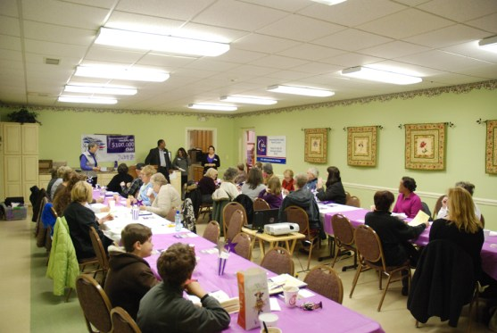 Around 30 people turned out for the Relay for Life Kickoff event.