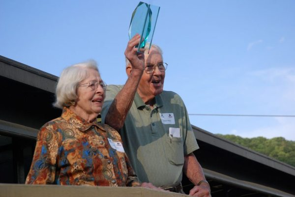 Robert Shipley, Sr. and his wife, Agnes, received the Wade Brown Community Recognition Award from the Boone Area Chamber of Commerce in 2012. Photo by Ken Ketchie