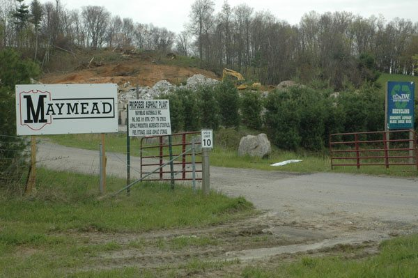 East of Boone, Maymead has secured a lease for a proposed asphalt plant on U.S. 421, where J.W. Hampton Recycling was located.