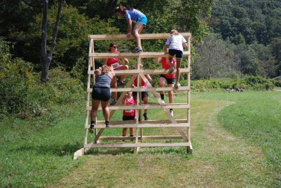Runners hit an obstacle