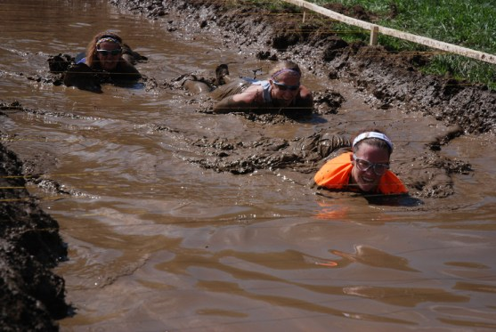 Getting just a little but muddy