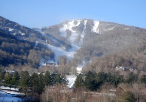 Snowmaking is ongoing at Sugar Mountain. Photo by Ken Ketchie