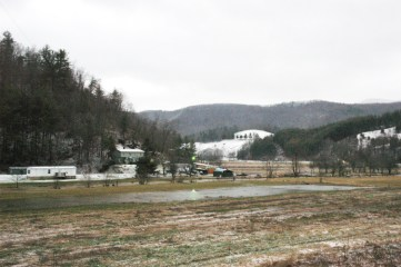The valley in between U.S. 321 and Howard Edmisten and Rominger roads at 7:15 a.m. Photo by Jesse Wood