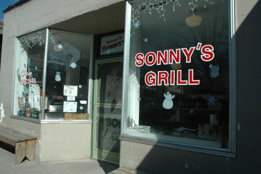 Sonny's Grill just after the restaurant shut down after decades in business.