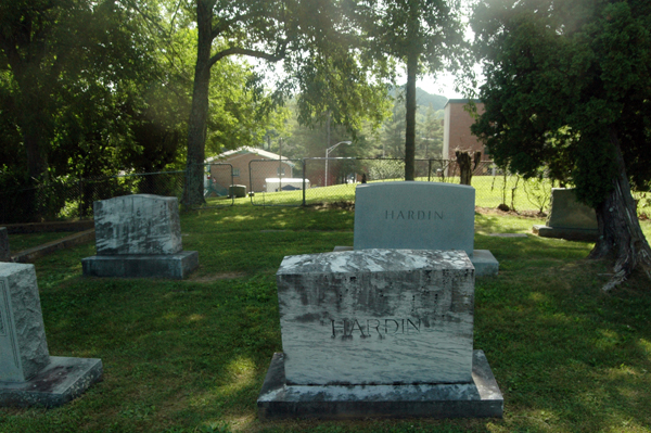 This is among the last few rows of graves for the white folks.