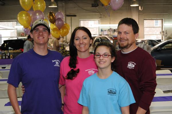 Toby Hampton's family