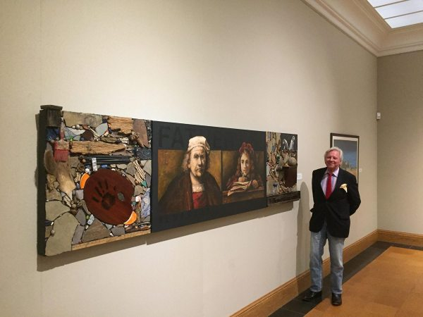Dunlap is pictured in front of Rembrandt and Titus, Collection of Lauren Rogers Museum.