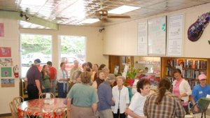 A long line stretched out the F.A.R.M. Cafe entrance during the first days of operation last year. Photo by Jesse Wood
