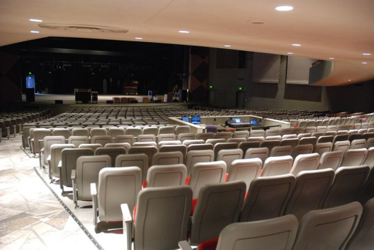 View from the back of the auditorium area. Photo by Ken Ketchie