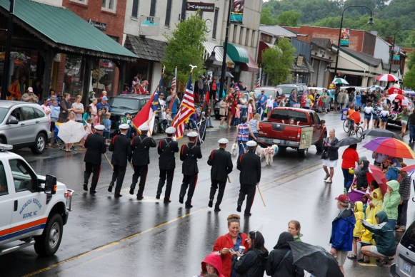 The rain couldn't keep the fun away during the Fourth of July parade in downtown Boone on Thursday. Photo by Ken Ketchie