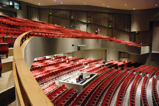 The newly sloped seating floor in the auditorium ensures that every seat in the house is a great one. Photo by Ken Ketchie