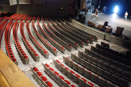 Arial view of the auditorium space. Photo by Ken Ketchie