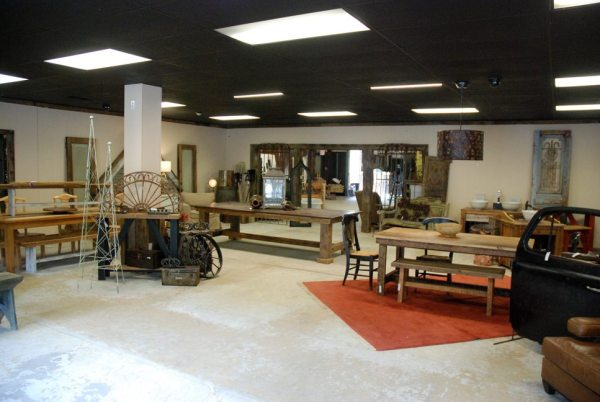 The new showroom for Curiosity's salvage and reclaimed barn wood business