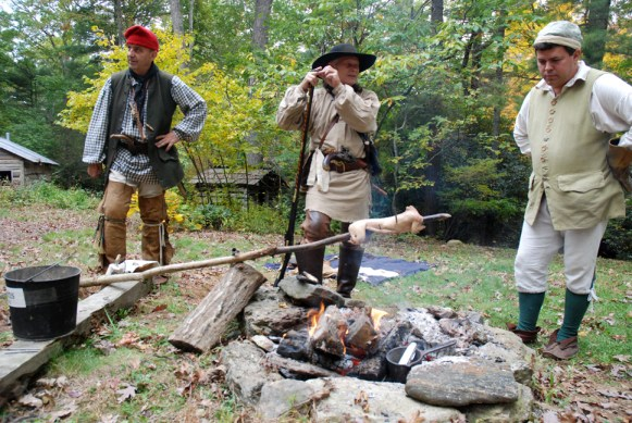 Cooking the old-fashion way at the Boone Heritage Festival. Photos by Ken Ketchie