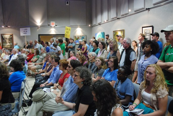 "The Harvest House was packed for the ""Bringing Home the Dream."" Photo by Ken Ketchie"