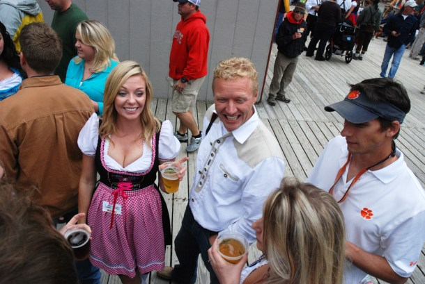 Visitors came dressed in their best Bavarian-style garb