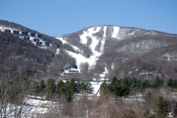 The conditions are fantastic at Sugar Mountain Resort for the last weekend of skiing/snowboarding during Easter. Photo by Ken Ketchie