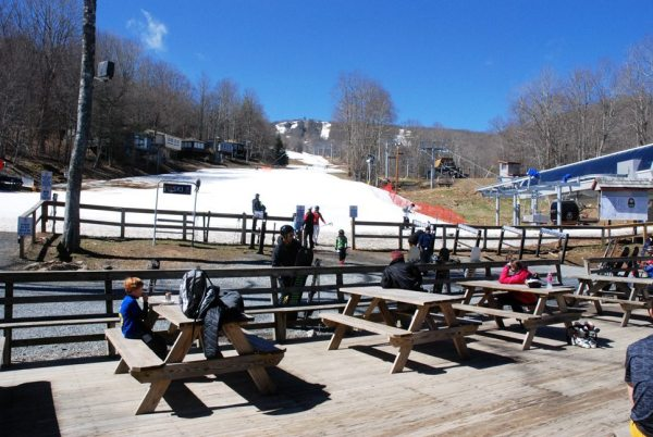Sugar Mountain Resort earlier this week when temps were in the 70s in Boone. Photo by Ken Ketchie