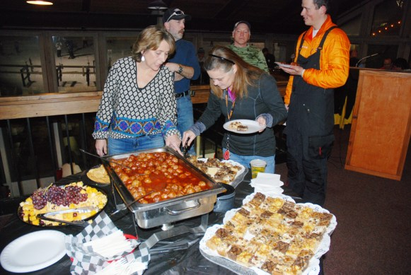 Each week a different sponsor took care of the food for after the races. It was Sugar Mountain Resort's turn on Monday.