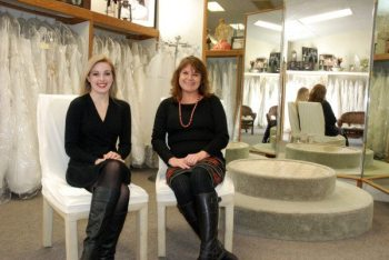 Consultant Laura Lewis and shop owner Donna Cook are pictured on the second floor of Did Someone Say Party?