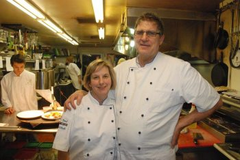 Alison and Sidney Bond are pictured in the kitchen at the Gamekeeper.