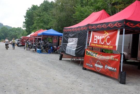 Bike Team Tents. Photo by Ken Ketchie