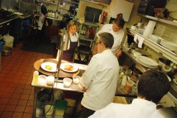 Sidney and Alison Bond work alongside the Gamekeeper team in the kitchen.