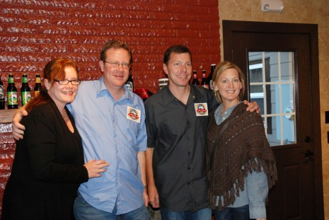 Blowing Rock Brewing Company's co-founders Jeff Walker & Todd Rice and their wives at the Blowing Rock Ale House Restaurant, Pub and Inn