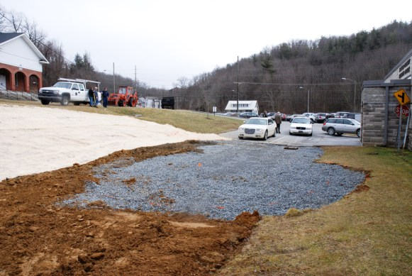 Watauga County staff broke ground on the memorial two weeks ago. Photos by Ken Ketchie