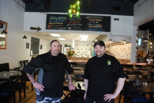 Julius Kalman, chef and Sam Ratchford, chef/owner of Vidalia restaurant and wine bar in downtown Boone.
